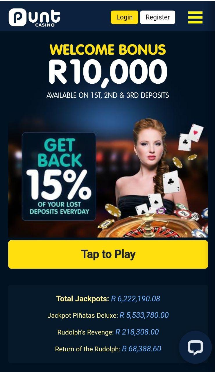 punt casino mobile version